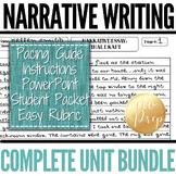 Narrative Essay Writing Packet: Prompts, Brainstorm, Outline, Checklist, Rubric