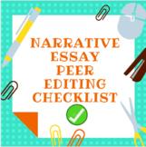 Narrative Essay Peer Editing Checklist
