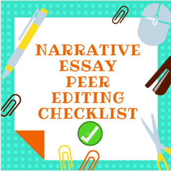 Peer Editing Checklist Informational Worksheets Teaching