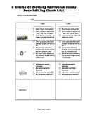 Narrative Essay Peer Editing Sheet  6 Traits of Writing