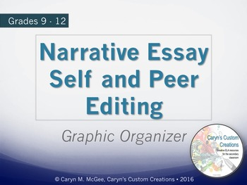 Narrative Essay Peer Editing Graphic Organizer