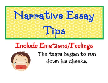 Narrative Essay Tips Poster easy, kid-friendly and visual