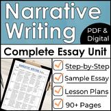 Narrative Essay Writing Unit Plan