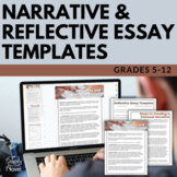 Narrative Essay and Reflective Essay Templates - Fill-in-the-Blank Essays