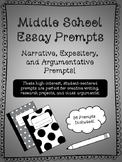 Writing Prompts for Middle School!