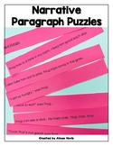 Narrative Fiction Writing Paragraph Structure Puzzles