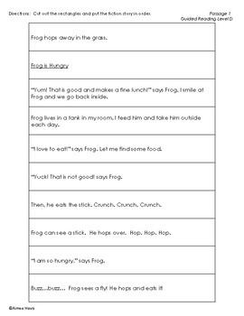 Narrative Fiction Writing Paragraph Structure Puzzles