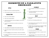 Narrative Fiction Writing (Student Checklist- Middle School)