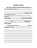 Narrative Fill in Blank Essay for Struggling Writers or Special Ed