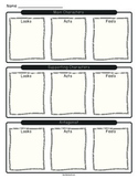 Narrative Graphic Organizer - Character Traits