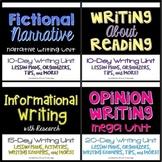 Narrative, Informational, & Opinion Writing Unit BUNDLE