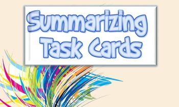 Narrative & Informational Summary Task Cards