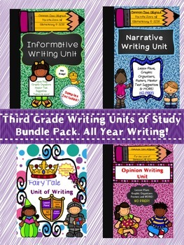 Narrative, Informative, Opinion and Fairy Tale Units of Writing