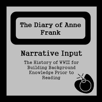 Narrative Input Cards to Build WWII Background for The Diary of Anne Frank