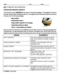 Narrative Introductory Paragraph Note Page