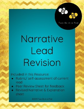 Narrative Lead Revision Worksheets