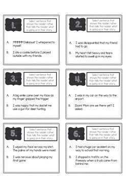 Scoot for Showing VS Telling in Narrative Writing