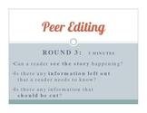 Narrative Non Fiction Peer Editing & Analysis Activity