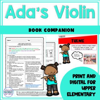 Narrative Nonfiction - Ada's Violin_Main Idea and Theme
