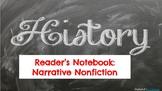Narrative Nonfiction Reading Notebook Entries