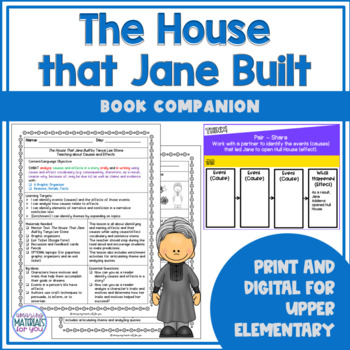 The House That Jane Built Book Companion   Cause and Effect