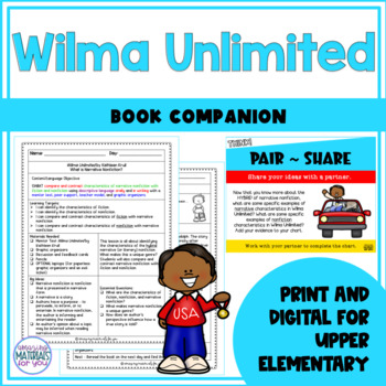 Narrative Nonfiction - Wilma Unlimited (Kathleen Krull)