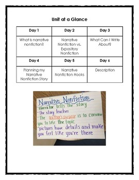 Narrative Nonfiction Writing (6 day unit)