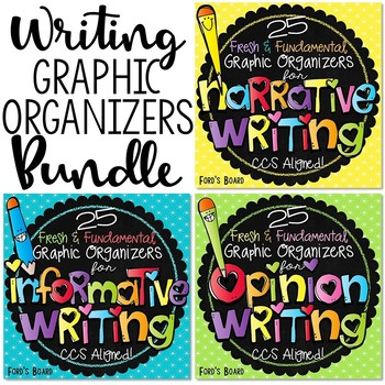 Writing Graphic Organizers Bundle - Narrative, Opinion, Informational