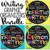 Writing Graphic Organizers Bundle | Narrative, Opinion, In