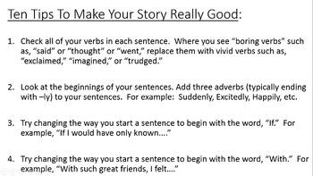 NARRATIVE WRITING 5 6 7 8 9 teaching slides, practice prompts FUN test prep