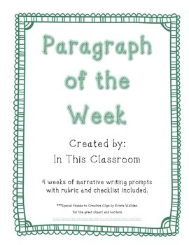 Narrative Paragraphs of the Week Sample