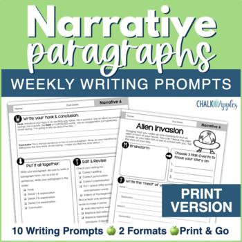 Narrative Paragraphs - Weekly Paragraph Writing