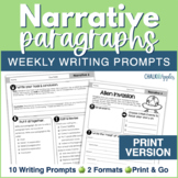 Narrative Paragraphs - Weekly Paragraph Writing