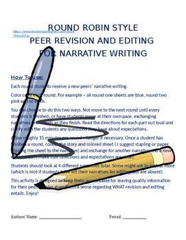 Narrative Peer Editing - Round Robin Style
