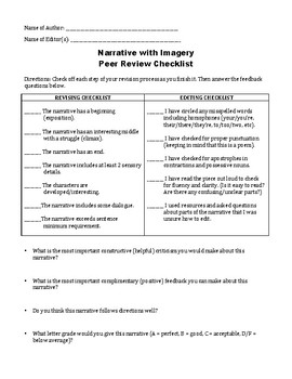 Narrative Peer Review Checklist
