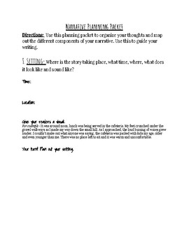 Narrative Planning Packet