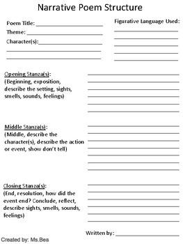 Narrative Poem Structure