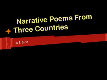 Narrative Poems From Three Countries