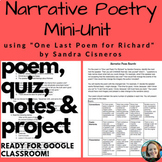 "Narrative Poetry-""One Last Poem for Richard"" Unit"