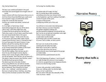 Narrative Poetry Trifold Examples