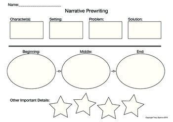 Narrative Prewriting Chart