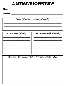 narrative prewriting story map by laura pickett tpt narrative prewriting story map