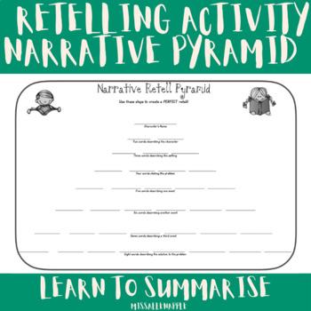 Narrative Pyramid - Retell and Summarize Strategy