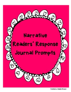 Narrative Readers' Response Journal Prompts (Application/Analysis)