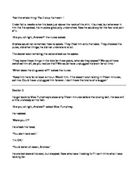 Narrative Reading Comprehension Questions - excerpts from the novel Ender's Game