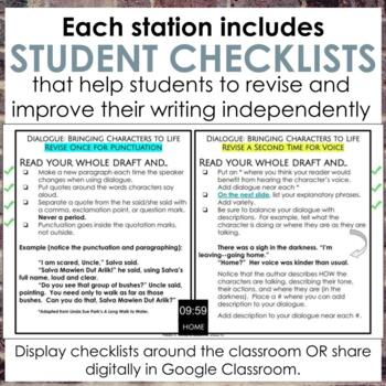 Narrative Revision Learning Stations for Grades 6-10