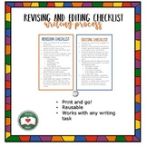 Revision and Editing Checklists