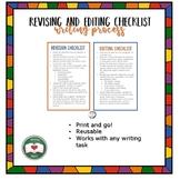 Narrative Revision and Editing Checklists