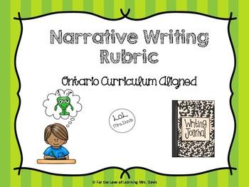 Narrative Rubric (Ontario Curriculum Aligned)