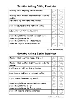 Narrative Self Editing Checklist